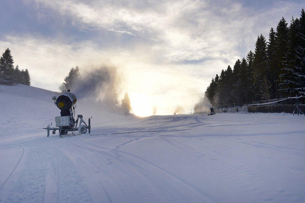Zasněžování ve Ski areálu Branná