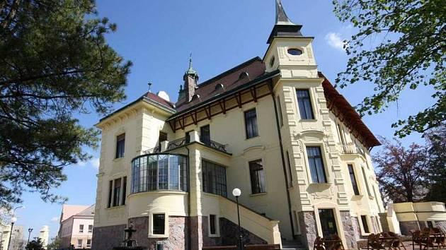 Zrekonstruovaná secesní Hernychova vila.