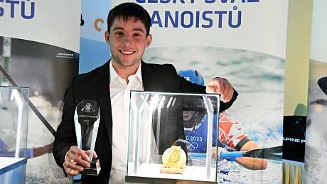 Jiří Prskavec se zlatou medailí.