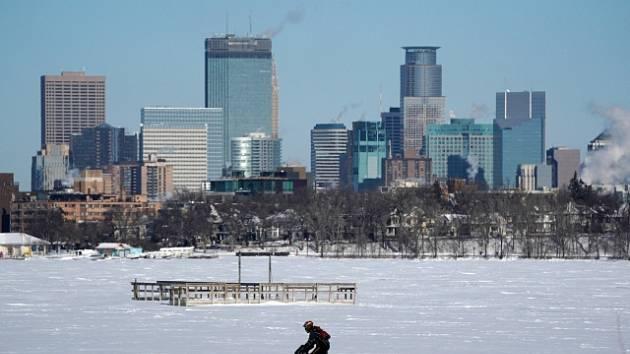 Silné mrazy zasáhly i Minneapolis