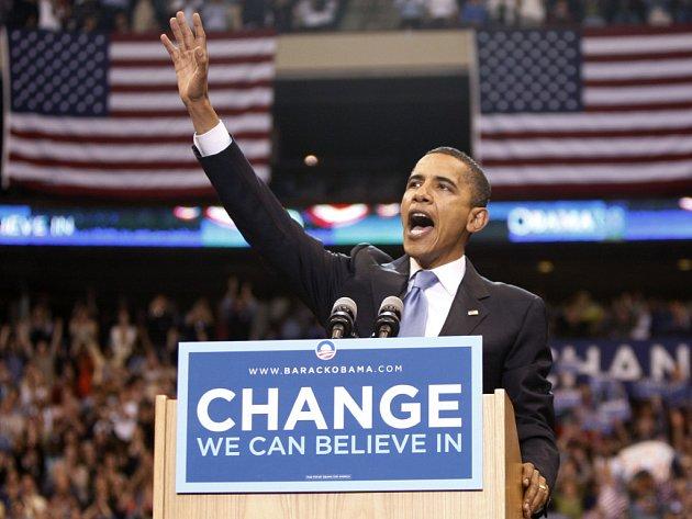 Barack Obama se stal vítězem tábora demokratů.