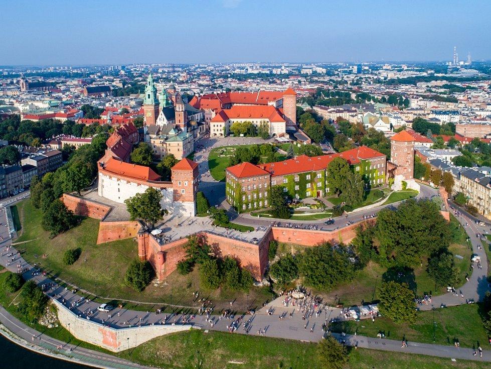 Krakov, panorama starého města
