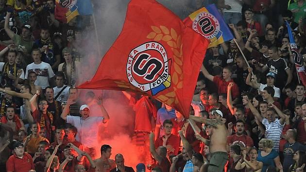 Sparta - Maribor: fanoušci Sparty slaví postup.