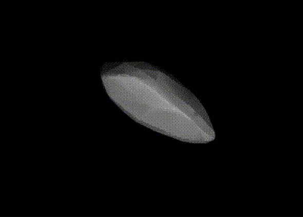Simulace malé planetky 2008 TC3, která dopadla na Zemi 7. října 2008 poté, co ji astronomové sledovali na obloze nad Núbijskou pouští v severním Súdánu