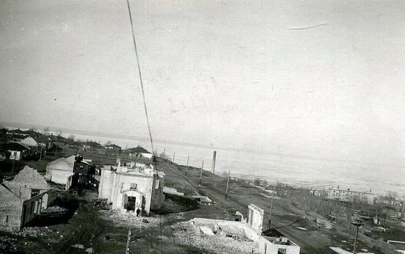 Rozstřílený Taganrog během druhé světové války