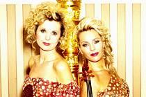 DLOUHOLETÉ KOLEGYNĚ. Harfenistka Kateřina Englichová a violistka Jitka Hosprová.