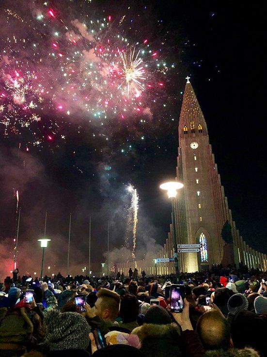 Novoroční oslavy v Rejkjavíku