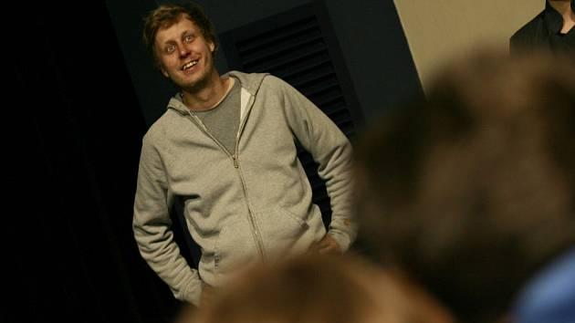 Režisér filmu Alois Nebel Tomáš Luňák, který si odvezl hlavní cenu,  při diskuzi po projekci filmu na Mezinárdním festivalu animovaných filmů Anifilm v Třeboni.