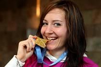 Halová mistryně Evropy v běhu na 400 metrů Denisa Rosolová.