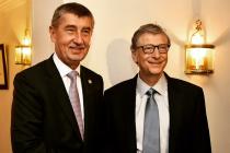 Český premiér Andrej Babiš se sešel s Billem Gatesem