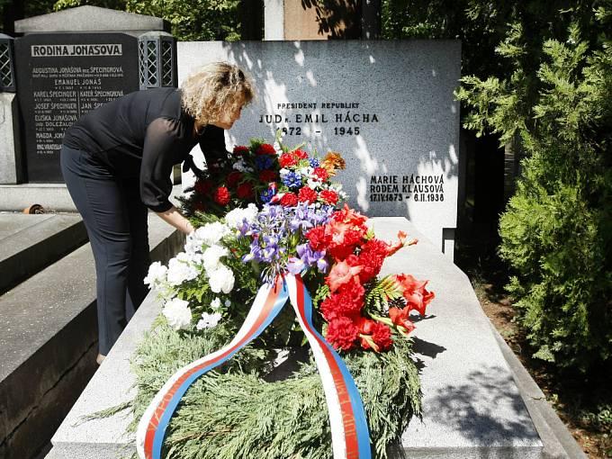 Pietní akt ke 140. výročí narození prezidenta Československé republiky (1938–1939) a státního prezidenta Protektorátu Čechy a Morava Emila Háchy proběhl 12. července na Vinohradském hřbitově v Praze.