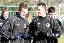 Dvě výrazné posily fotbalové Slavie Tomáš Necid (vlevo) a Jan Vošáhlík.