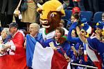 Maskot hokejového mistrovství světa 2014 v Bělorusku - zubr Volat