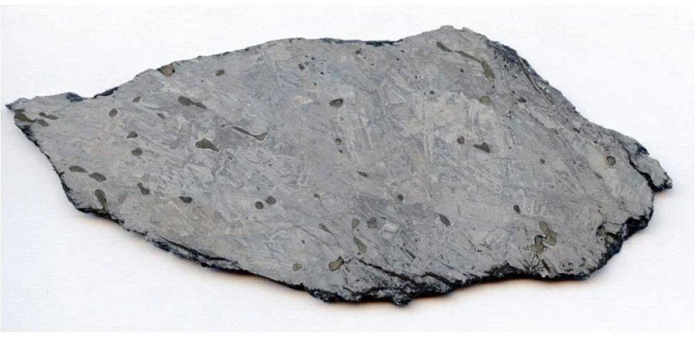 Příkladem železného meteoritu IIE je i meteorit Mont Dieu z francouzských Ardennes