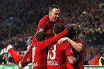 Radost na německý způsob: Bayer Leverkusen má po vítězství 1:0 nad Atlétikem Madrid slušné šance na postup.