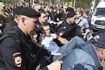 Ruská policie zadržela opozičního předáka Alexeje Navalného