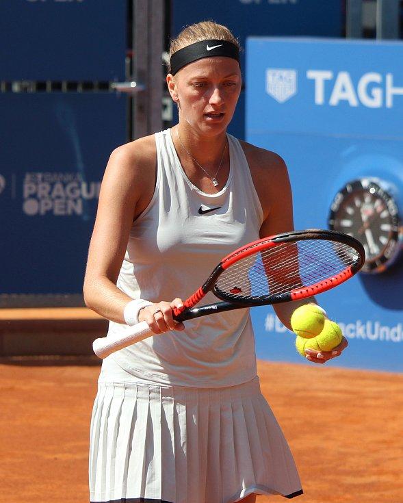 Petra Kvitová ve finále turnaje v Praze.