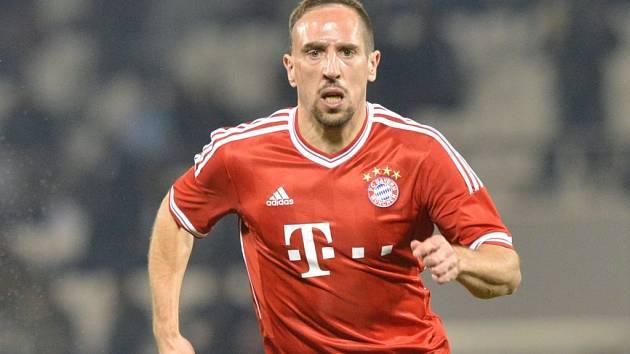 Fotbalisté Bayernu Mnichov se v úvodním osmifinále Ligy mistrů s Arsenalem budou muset obejít bez záložníka Francka Ribéryho.