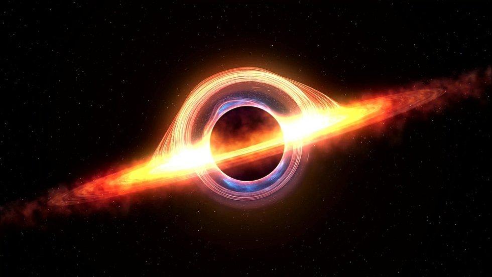 Vizualizace černé díry.