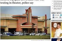 Muž psal v kině na Floridě sms, policista v penzi ho kvůli tomu zastřelil.