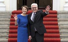 Frank-Walter Steinmeier se svou ženou