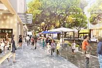 Ve čtvrti by kromě parku měly být také obchody