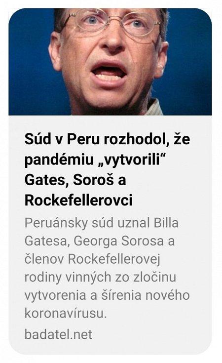 Text o údajném rozhodnutí peruánského soudu začaly okamžitě sdílet české i slovenské dezinformační weby
