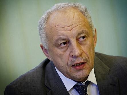 Tisková konference státního podniku Lesy ČR k hospodářským výsledkům za první pololetí 2011 proběhla 10. srpna v Praze. Na snímku generální ředitel Svatopluk Sýkora.