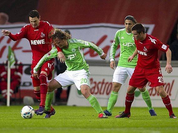 Petr Jiráček v dresu Wolfsburgu.