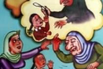 Plakát vykreslující ženskou obřízku jakožto zastaralý prvek egyptské společnosti. Zákrok je však v egyptských rodinách tak rozšířen, že jej absolvuje až 95 procent všech žen a dívek