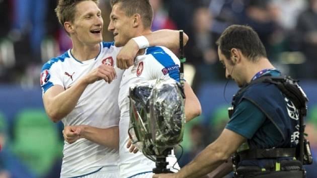 Milan Škoda a Tomáš Necid - střelci českých gólů.