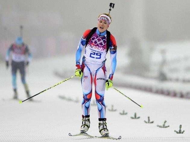 Biatlonistka Gabriela Soukalová předvedla ve stíhacím závodě na olympijských hrách v Soči fantastický výkon, v cíli jí dělilo od bronzu šest sekund.