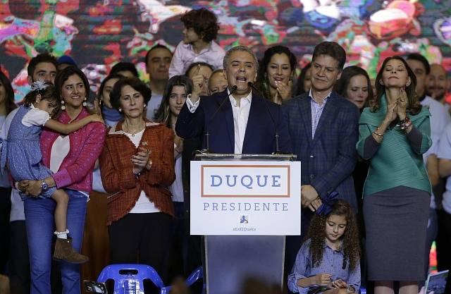 Kolumbijský prezident Iván Duque