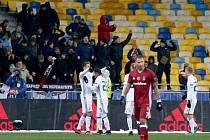 Zápas Ligy mistrů mezi Dynamem Kyjev a Besiktasem.