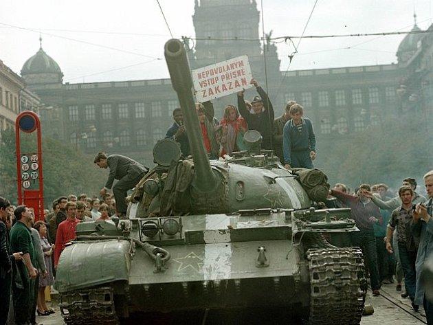 Okupace Československa; 21. srpna 1968, Václavské náměstí