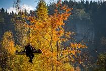 Cvičení záchranářů v Adršpašských skalách. Cvičení hasiči, skalní záchranná služba, adršpach, skály, záchrana, lezec, horolezec