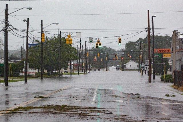 Hurikán Florence doprovází záplavy.