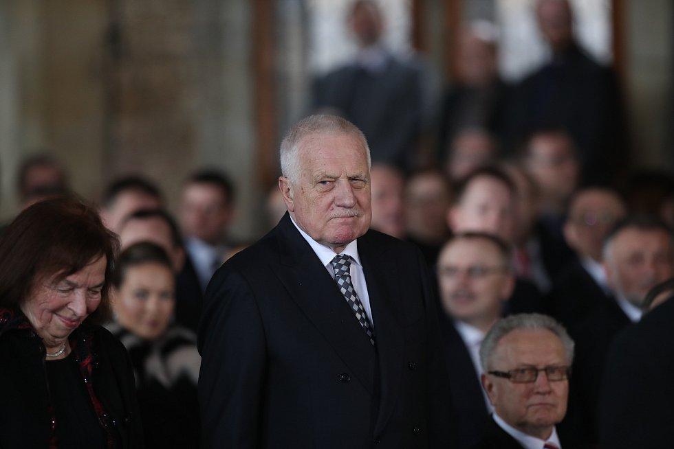 Inaugurace Miloše Zemana. Bývalý prezident Václav Klaus.