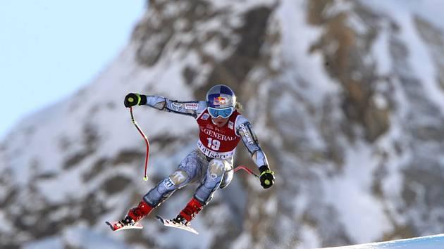 Česká lyžařka Ester Ledecká během sjezdu SP ve Val d´Isere.