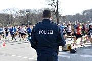 Policie na berlínském maratonu