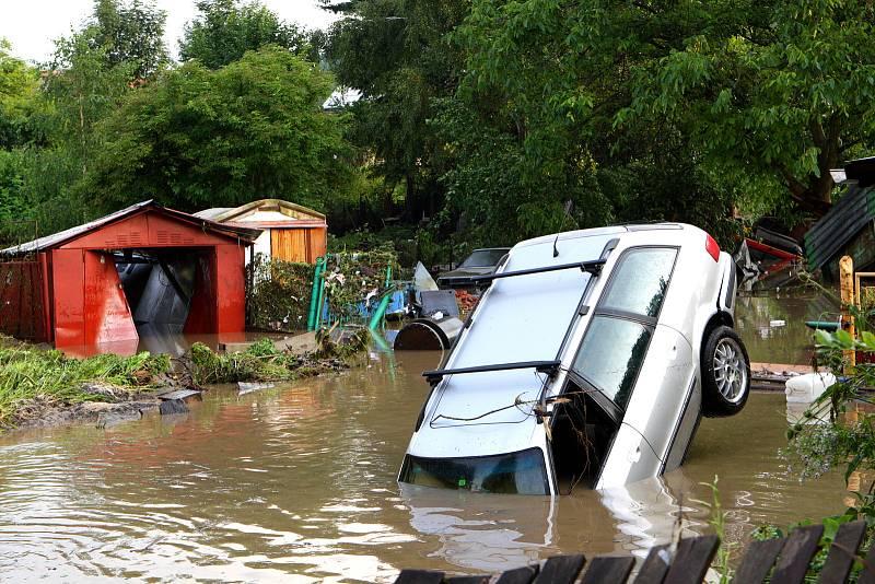 Povodeň v Benešově nad Ploučnicí