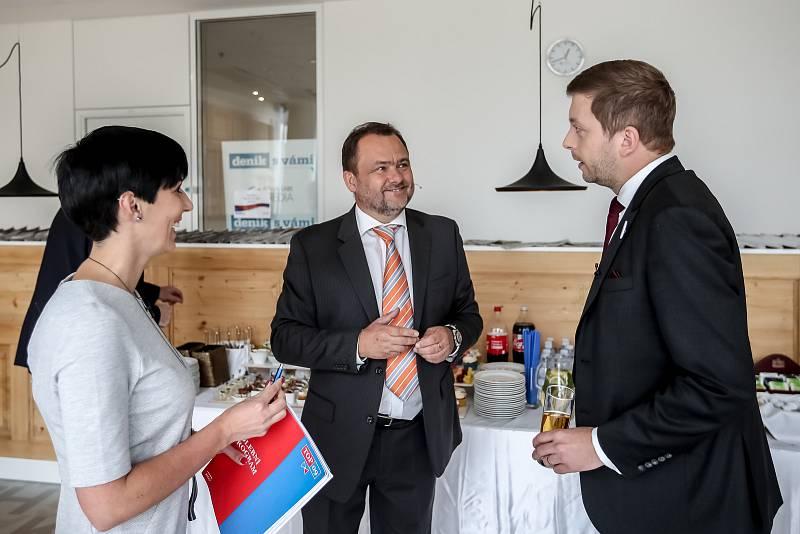 Předvolební Deníku probíhala 19. října v Aviatice. Pekarová-Adamová, Rakušan, Gallo