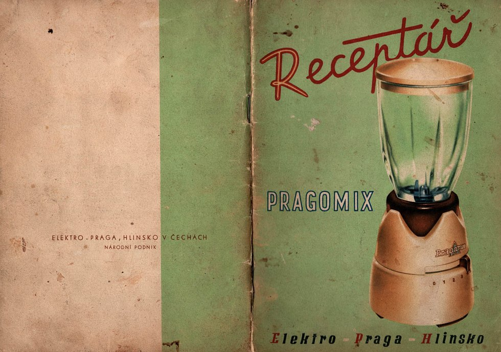 Receptář Pragomix - reklama na mixér.