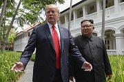 Donald Trump a Kim Čong-un.