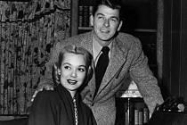 Jane Wymanová a její manžel Ronald Reagan na archivním snímku.