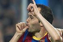 Hvězda Barcelony Iniesta.