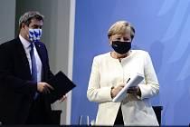 Markus Söder a Angela Merkelová