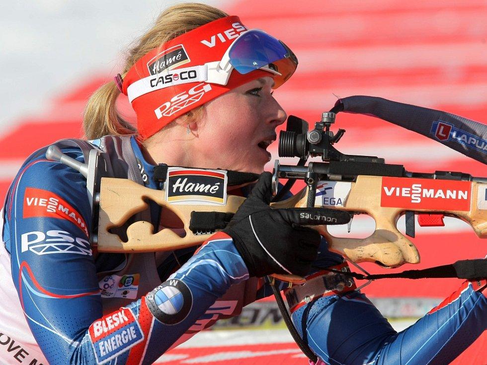 Biatlonistka Barbora Tomešová v Novém Městě na Moravě.