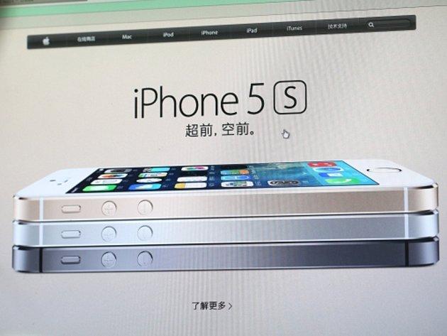 Nový špičkový model iPhone 5S.