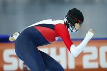 Rychlobruslařka Martina Sáblíková během tréninku na olympijských hrách v Soči.
